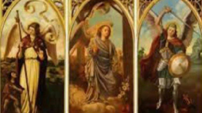 Orang Kudus Katolik 29 September Malaikat Mikael, Gabriel & Rafael - Santo Sirakus &Santa Theodota