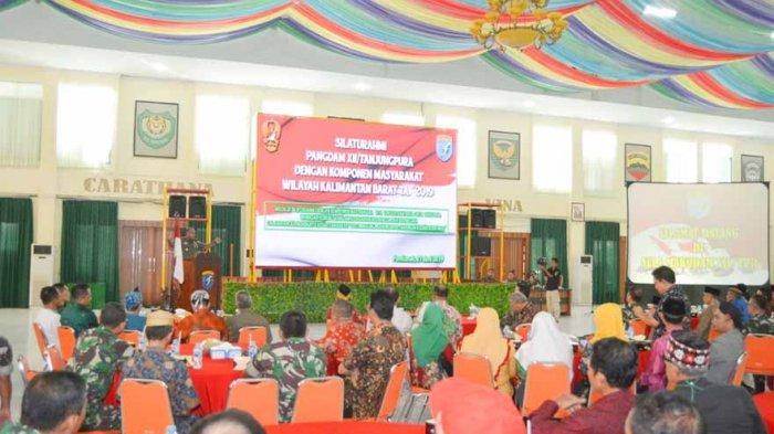 Pangdam XII/Tpr Bersilahturahmi dengan Komponen Masyarakat Wilayah Kalbar