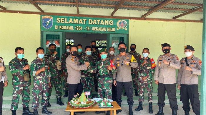 Polres Sekadau dan Koramil Sekadau Hilir Rayakan HUT TNI ke-76, Kapolres: Harus Solid Menjaga NKRI