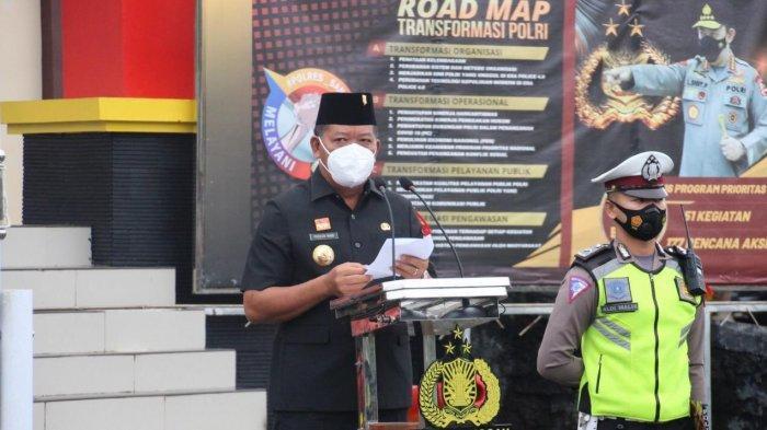 Pimpin Apel Gelar Pasukan Ops Ketupat Kapuas 2021 di Polres Sanggau, Ini Harapan Bupati Paolus Hadi