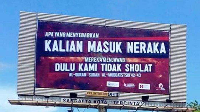 Papan Reklame di Kalimantan Ini Jadi Viral di Sosial Media, Ada Yang Ingatkan Salat