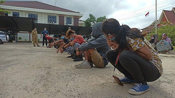 Satpol PP Giring Kelompok Anak Punk, Pengemis, Pengamen Serta ODGJ di Kota Singkawang