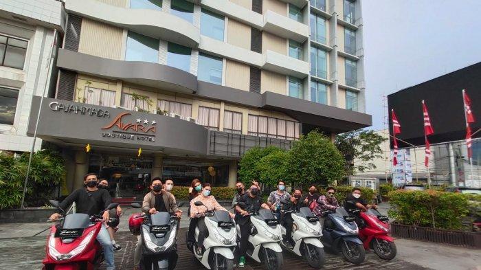 Gaya Keren Anak Band Ikuti Ngebuburide Bareng PCX160