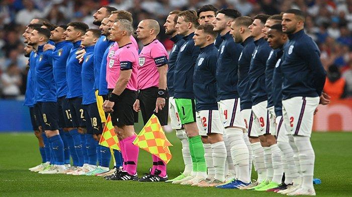 UPDATE Skor Inggris vs Italia di Final Euro 2021, Baru Tiga Menit Gawang Gli Azzuri Sudah Kebobolan