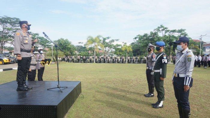 Polres Singkawang Gelar Apel Pasukan Operasi Keselamatan Kapuas 2021