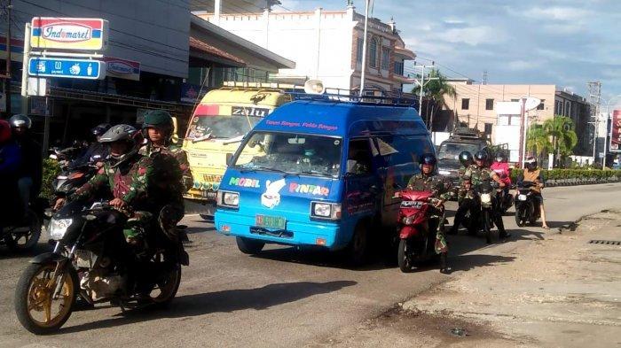 Tim Gabungan Gencarkan Patroli Pencegahan Covid - 19 di Kota Sanggau