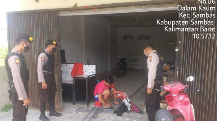 Gelar Patroli Rutin, Sat Samapta Melaksanakan Mobiling di Sekitar Sambas Kota