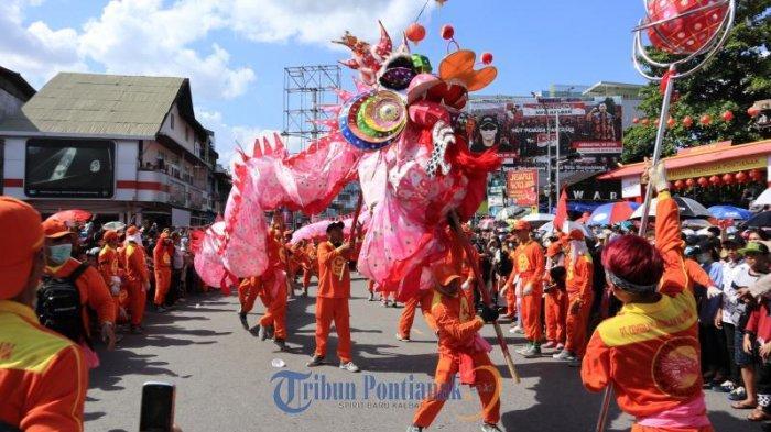 JADWAL Imlek dan Cap Go Meh 2020 Pontianak, Ribuan Lampion, Kue Keranjang Pagoda dan Lomba Barongsai
