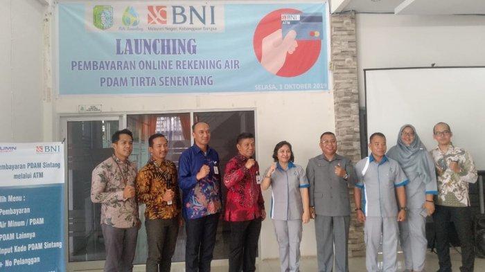 PDAM Tirta Senentang Bersama PT BNI Cabang Sintang Launching Pembayaran Online Rekening Air