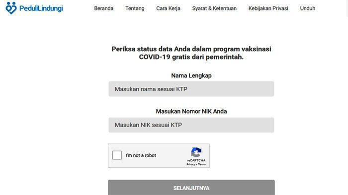 Aplikasi Pedulilindungi.id untuk Cara Cek Penerima Vaksin Covid-19