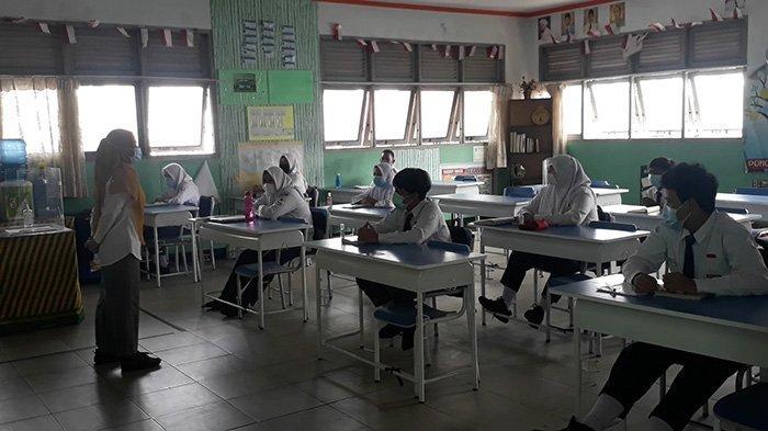 96 Siswa SMPN 1 Pontianak Ikuti Pembelajaran Tatap Muka Perdana