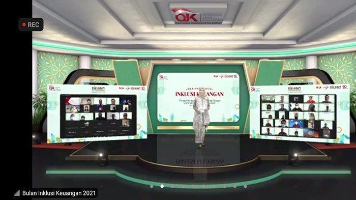 Pelaksanaan Bulan Inklusi Keuangan (BIK) 2021 dengan tema Inklusi Keuangan untuk semua bangkitkan ekonomi bangsa sekaligus Webinar Inklusi Keuangan pengembangan digital banking sebagai optimalisasi layanan Nasabah di masa pandemi berjalan dengan lancar yang digelar secara virtual, Senin 11 Oktober 2021.