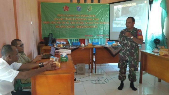 Satgas TMMD Berikan Penyuluhan Wawasan Kebangsaan Kepada Masyarakat Dusun Bantilan
