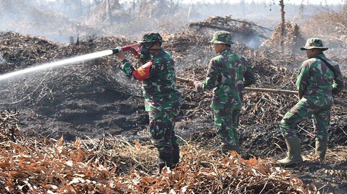 Dandim 1203/KTP Pimpin Langsung Usaha Pemadam Api di Pelang
