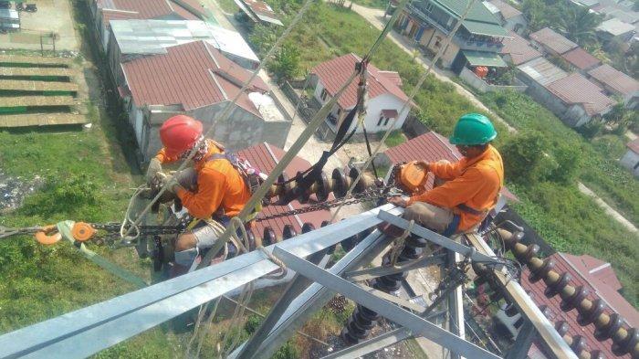 Rawan Tersambar Petir, PLN Pasang Down Conductor pada SUTT 150 kV