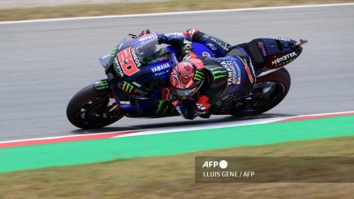 Pembalap Petronas Yamaha, Fabio Quartararo saat berlaga di MotoGP Catalunya, Minggu 6 Juni 2021.