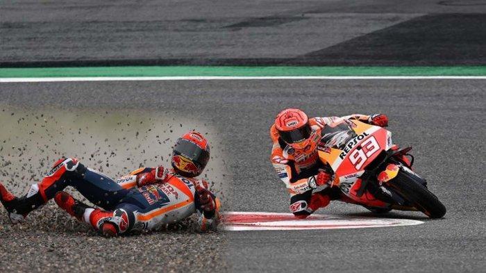 HASIL MotoGP Aragon FP3 Takaaki Nakagami Tercepat, Marc Marquez Crash Jalani Q1 Bersama Rossi