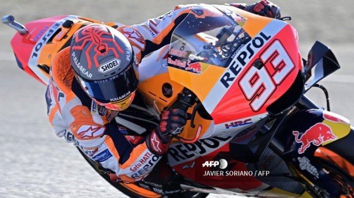 FINISH Hasil Latihan Bebas MotoGP Portugal 2021 - Marquez Melesat, Vinales Tercepat di Hasil FP1