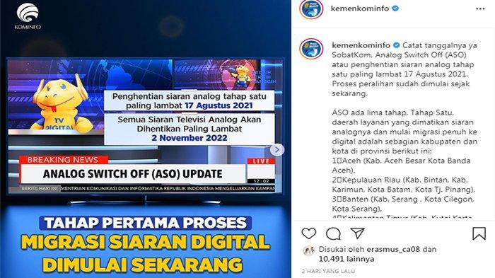 CARA Pindah dari Siaran TV Analog ke Siaran TV Digital Paling Lambat 17 Agustus 2021