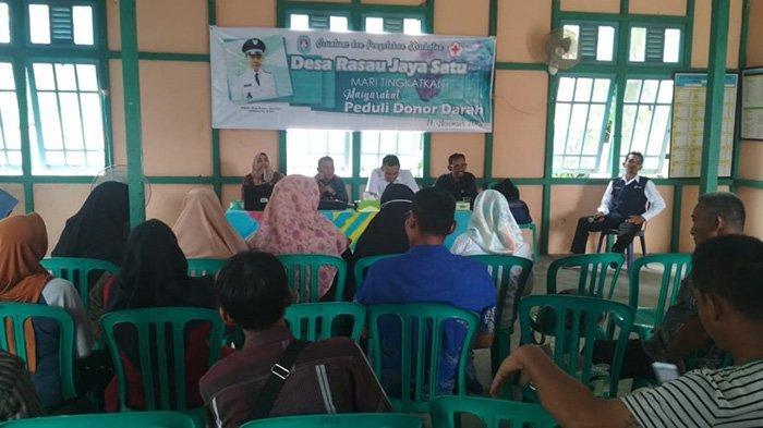 Desa Rasau Jaya Pelopori Gerakan Donor Darah