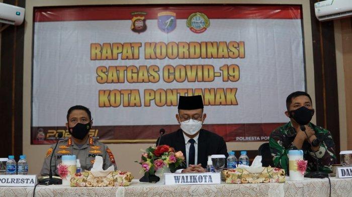 Polresta Pontianak Kota Gelar Rapat Koordinasi Satgas Covid-19, Ini Pembahasannya