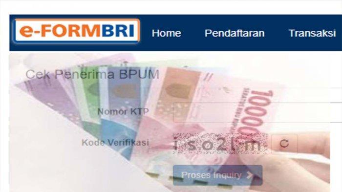 E FORM BRI CO ID BPUM Cek Daftar Penerima Banpres Rp1,2 Juta Terbaru Bulan Oktober 2021