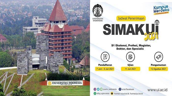 PENDAFTARAN Jalur Seleksi Mandiri Universitas Indonesia 2021 untuk S1 S2 Doktor & Spesialis