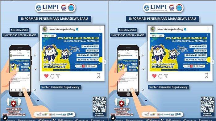 PENDAFTARAN Jalur Seleksi Mandiri Universitas Negeri Malang 2021, Simak Syarat & Cara Pendaftaran