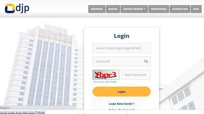 Cara Daftar NPWP Online 2021 di situs Dirjen Pajakereg.pajak.go.id Login