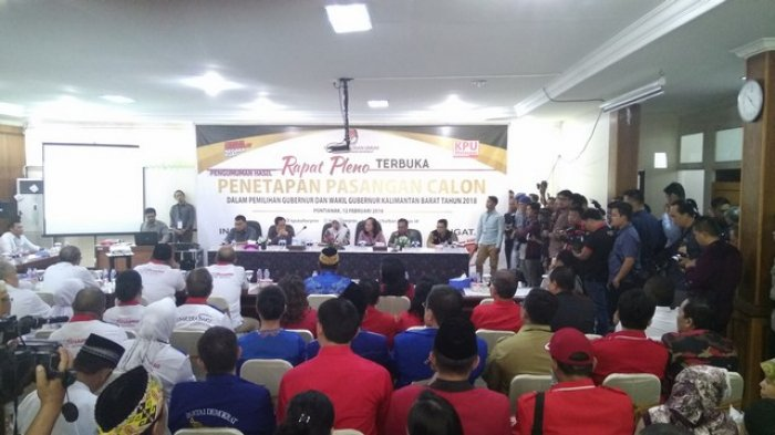 KPU Kalbar Tetapkan Tiga Paslon Gubernur-Wakil Gubernur Kalbar 2018, Ini Penjelasannya