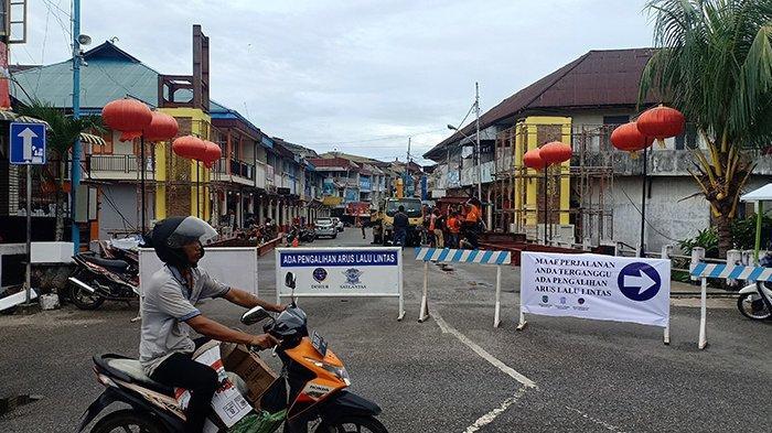 Pembangunan Gapura Kota Pusaka, Pemkot Singkawang Alihkan Arus Lalu Lintas di Jalan Budi Utomo