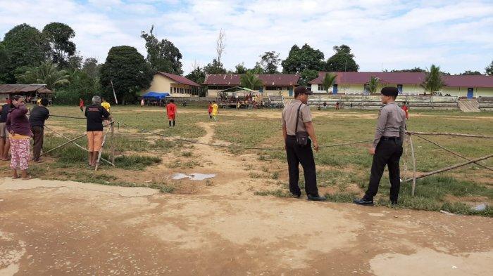 Polsek Meranti Lakukan Pengamanan Turnamen Sepak Bola