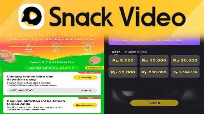 Cara Instal Apk Snack Video Hasilkan Uang Cepat Sesuai Aturan, Dapat Uang Tiap Hari dari Snack Video