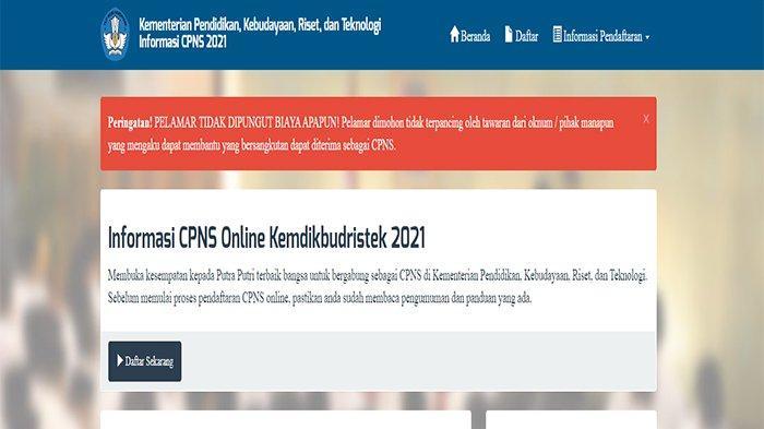 CARA Cek Jadwal SKD CPNS Kemendikbud 2021 di https://cpns.kemdikbud.go.id/