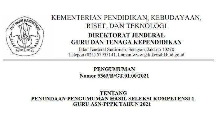 Kapan Jadwal Pengumuman Hasil Seleksi PPPK Guru 2021 ? Baca Update Info gurupppk.kemdikbud.go.id