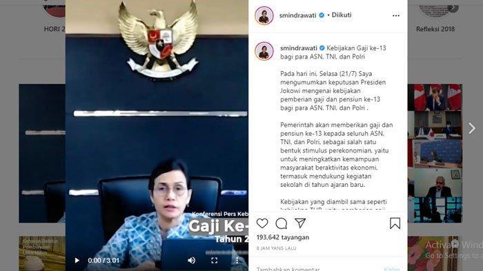 KABAR BAIK Pencairan Gaji 13 PNS TNI Polri, Sri Mulyani Umumkan Jadwal dan Golongan ASN yang Dapat