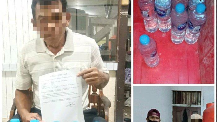 Jual Miras Dikemas dengan Botol Air Mineral, Seorang Pria Paruh Baya Ditangkap Polisi