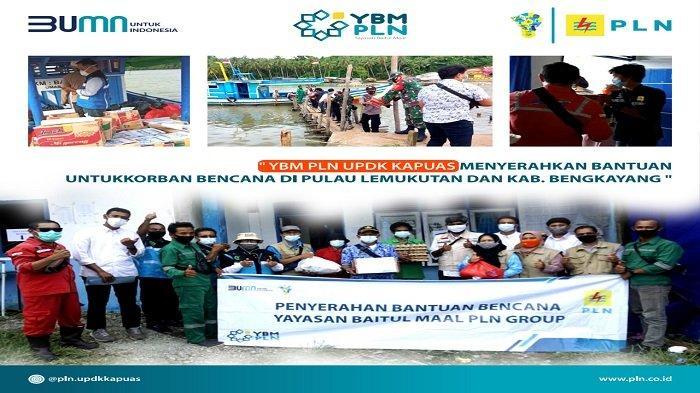 Penyaluran bantuan untuk korban bencana banjir di Pulau Lemukutan.