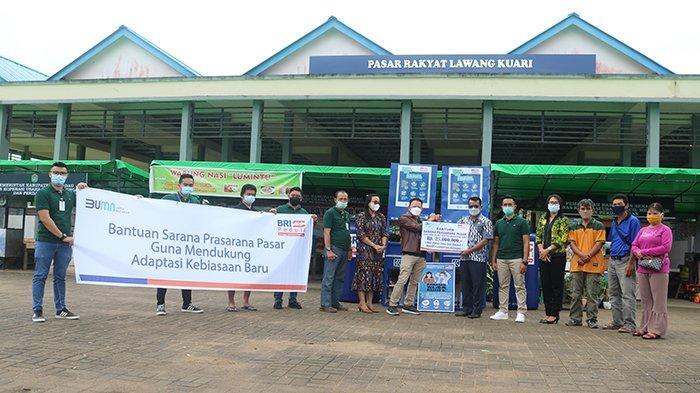 Bank BRI Cabang Sekadau Salurkan CSR di Komplek Pasar Sekadau, Bantu Fasilitas Penerapan Prokes