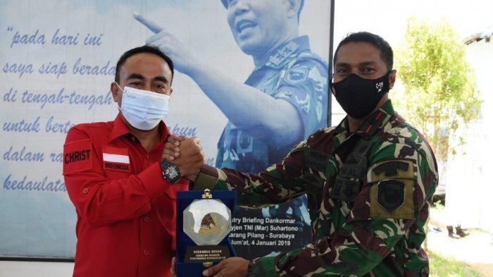 Sarang Petarung Yonmarharlan XII Terima Kunjungan Kerja Komisi I DPR RI