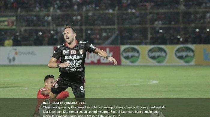 GOLL Bali United vs Persib Bandung! Ilija Spasojevic Bawa Bali United Unggul di Menit 8