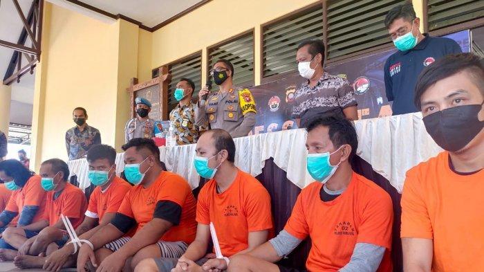 Polres Kubu Raya Gelar Press Release, Tahan 7 Tersangka Pengedar Narkoba dan 1 Kasus Pengelapan