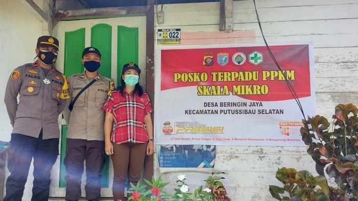 Personel Polsek Putussibau Selatan Sosialisasikan PPKM Berbasis Mikro kepada Warga