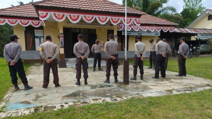 Kapolsek Kuala Behe Ingatkan Anggotanya Cek Titik Api Berdasarkan Aplikasi Lancang Kuning