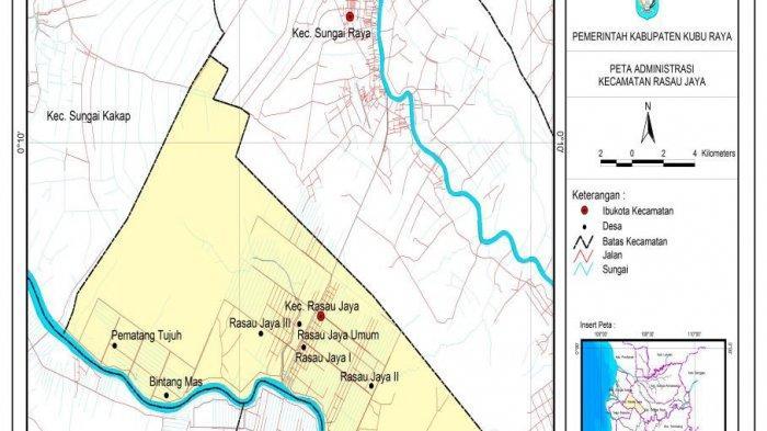 TRIBUN WIKI: Kecamatan Paling Kecil Luas Wilayahnya di Kubu Raya