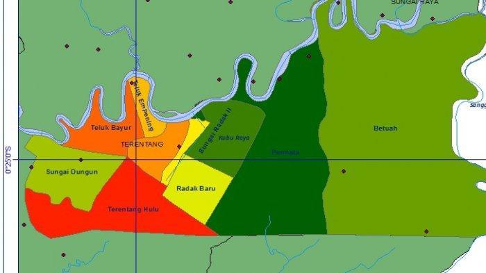 TRIBUN WIKI: Luas Kecamatan Terentang Nyaris 11 Persen Kubu Raya