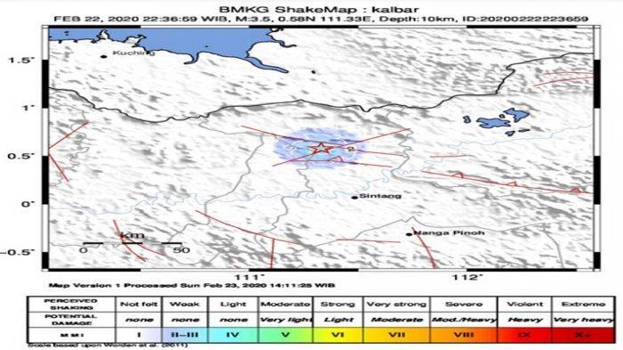 Analisis BMKG Terkait Gempa di Kabupaten Sintang
