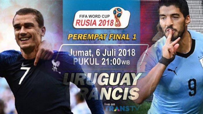Prediksi Prancis vs Uruguay: Bursa, Head to Head dan Perkiraan Pemain