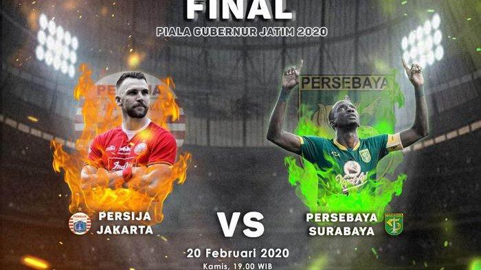 Live Streaming MNCTV Persebaya vs Persija Final Piala Gubernur Jatim 2020