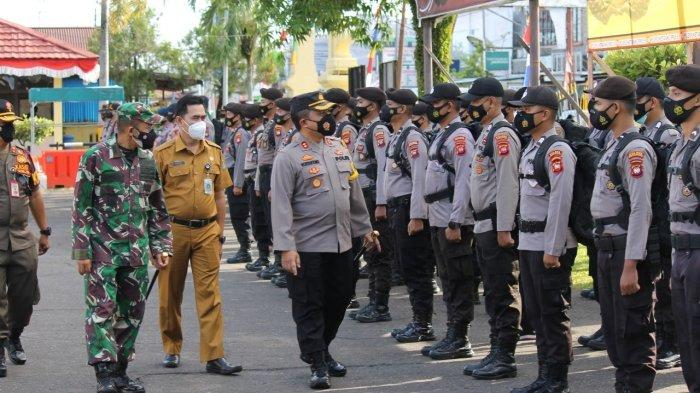 Amankan Pilkades Serentak, Polres Ketapang Gelar Apel Pergeseran Pasukan Pengamanan Pemilihan Kades